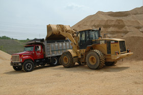 Fill Dirt Loading Truck