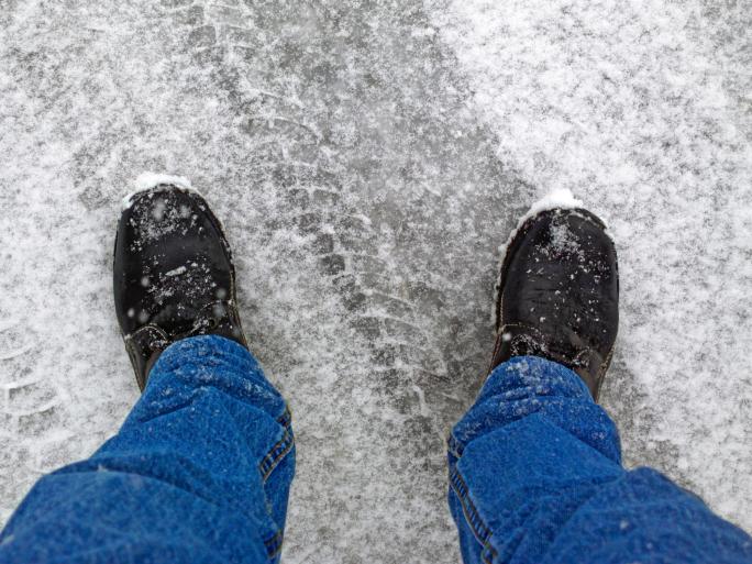snow on concrete
