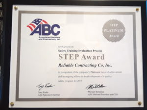 Reliable Contracting Ranks #8 in the Region for Associated Builders and Contractors Top Performers List